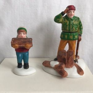 """Department 56-,""""Wood Cutter and Son"""" handpainted"""